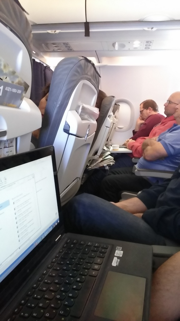 Working in economy class
